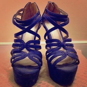 "6"" periwinkle blue high heels!"